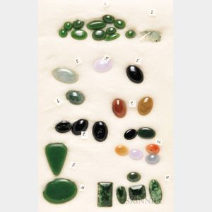 Group of Unmounted Jades