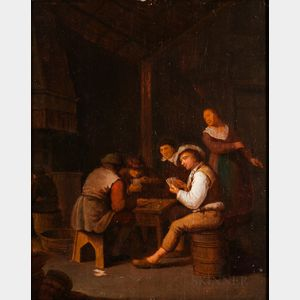 School of David Teniers II (Flemish, 1610-1690)      Card Players in a Tavern Interior
