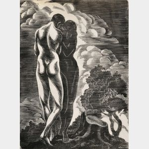 Isaac Friedländer (American, 1890-1968)      Two Images of Lovers.