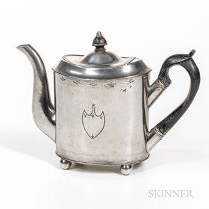 Israel Trask Pewter Teapot