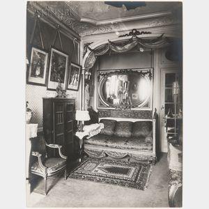 Eugène Atget (French, 1857-1927)      Interior of the Home of Mademoiselle Sorel, 99 avenue des Champs Élysées