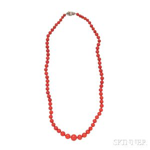 Coral Bead Necklace