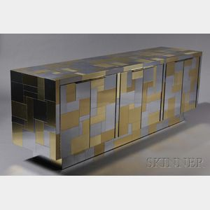Sold for: $11,258 - Paul Evans (1931-1987) Cityscape Credenza
