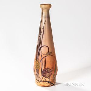 Legras Monumental Cameo Art Glass Vase