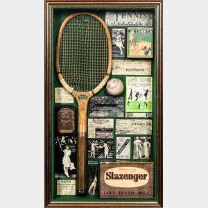 Tennis-themed Shadow Box Assemblage