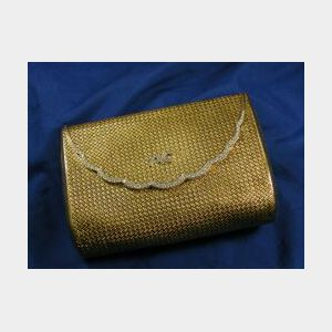 18kt Gold and Diamond Purse