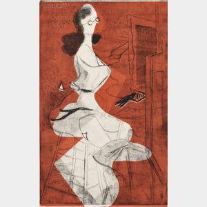 Minna Wright Citron (American, 1896-1991)      Men Seldom Make Passes