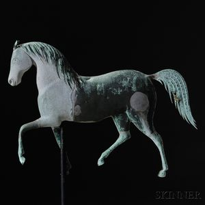 "Cast Zinc and Molded Copper ""Index"" Horse Weathervane"