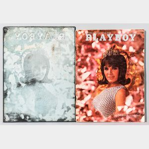 1967 Playboy Cover Print Plate and Corresponding Issue.