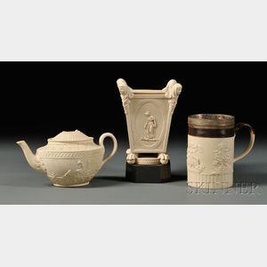 Three Turner White Stoneware Items