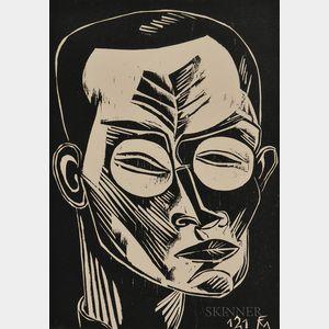 Conrad Felixmüller (German, 1897-1977)      Selbstbildnis