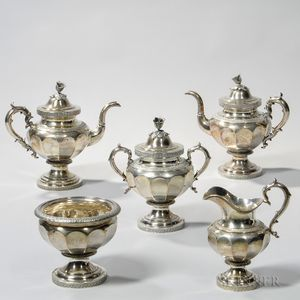 Five-piece Silver Tea Service