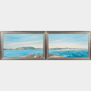 John L. Nesta (American, 1945-2017)    Hog Island and the Essex River: A Diptych
