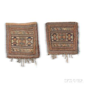 Pair of Shahsavan Soumak Bagfaces,