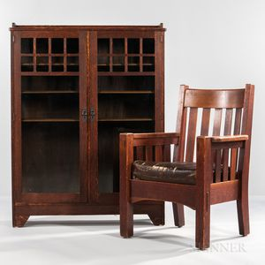 Lifetime Bookcase and a Harden Armchair