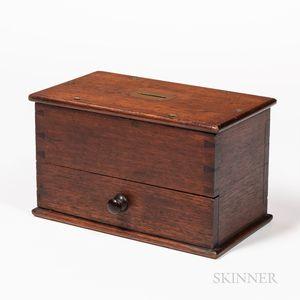 Brass-bound Mahogany Voting Ballot Box