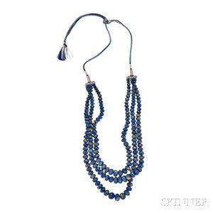 Lapis Bead Necklace