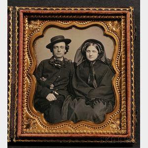 Sixth Plate Daguerreotype Portrait of a Couple