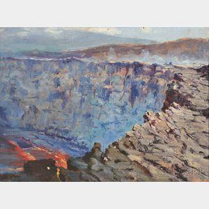 David Howard Hitchcock (American, 1861-1943)      View of Kilauea Volcano, Hawaii