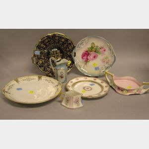 Seven Pieces of Assorted Decorated Porcelain Tableware