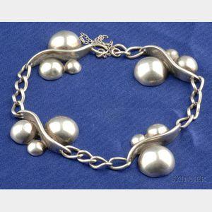 Sterling Silver Bracelet, JoPol for Georg Jensen