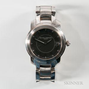 """Baume Mercier """"Capeland"""" Stainless Steel 65531 Wristwatch"""