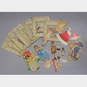 Group of Assorted Paper Dolls and Twenty-five 1924-25 Issues of Needlepoint   Magazine.