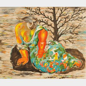 Sandro Chia (Italian, b. 1946)      Crying Woman