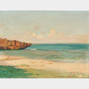 David Howard Hitchcock (American, 1861-1943)      Hawaiian Beach