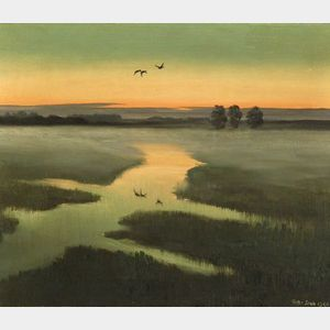 Sir Peter Markham Scott (British, 1909-1990)  Ground Mist