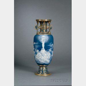 Sold for: $52,140 - Mintons Louis Solon Decorated Pate-sur-Pate Vase