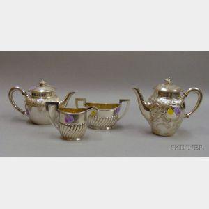 Four-piece .800 Silver Assembled Tea/Coffee Set