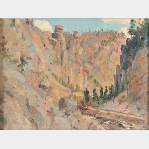 David Howard Hitchcock (American, 1861-1943)      Colorado Landscape