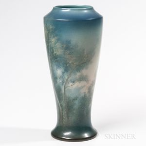 Edward Diers for Rookwood Pottery Scenic Vellum Vase