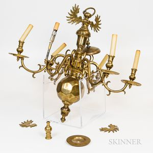 Anglo Dutch-style Brass Chandelier