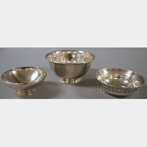 Three Tiffany Sterling Silver Bowls