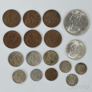 Seventeen U.S. Philippines Coins
