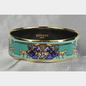 Polychrome Enamel Bangle, Hermes