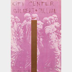Jim Dine (American, b. 1935)      City Center - Gilbert and Sullivan