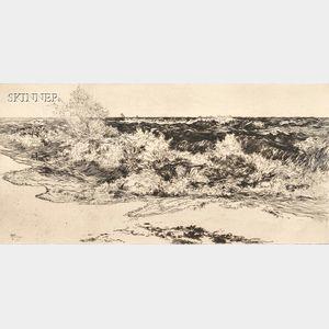 Thomas Moran (American, 1837-1926)      The Resounding Sea