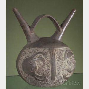 Pre-Columbian Spouted Vessel