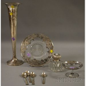Group of Sterling and Weighted Serving, Desk, and Flatware Items