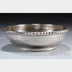 Henry Petzal Silversmith (1906-2002) Bowl with Trim