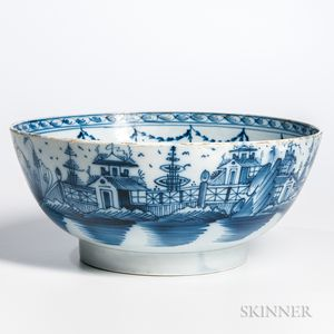 Pearlware Punch Bowl