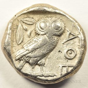 Pair of Tetradrachms from Ancient Greece