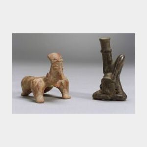 Two Pre-Columbian Pottery Acrobat Figures