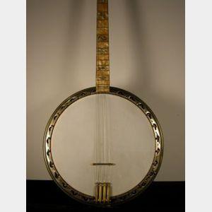 American Tenor Banjo, Bacon & Day, Groton, c. 1930, Model Sultana III Silver Bell