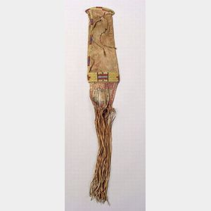 Northern Plains Beaded and Quilled Hide Pipe Bag