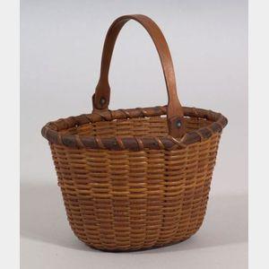 Early Oval Nantucket Basket