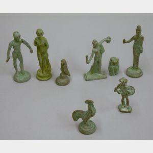 "Eight Cast Bronze ""Grand Tour"" Figures"